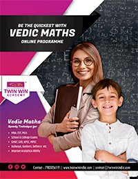 Twin Win VEDIC MATHEMATICS (ONE MONTH PROGRAMME)